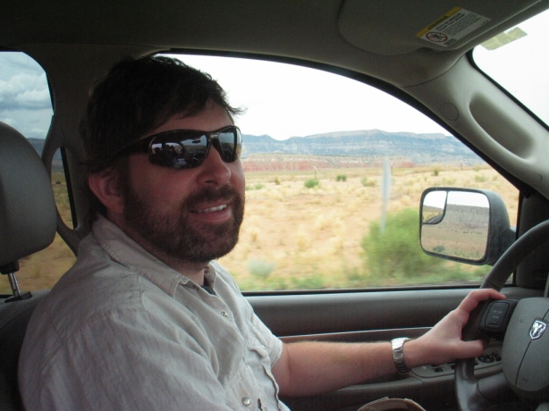 Andrew driving out of Gallup, NM