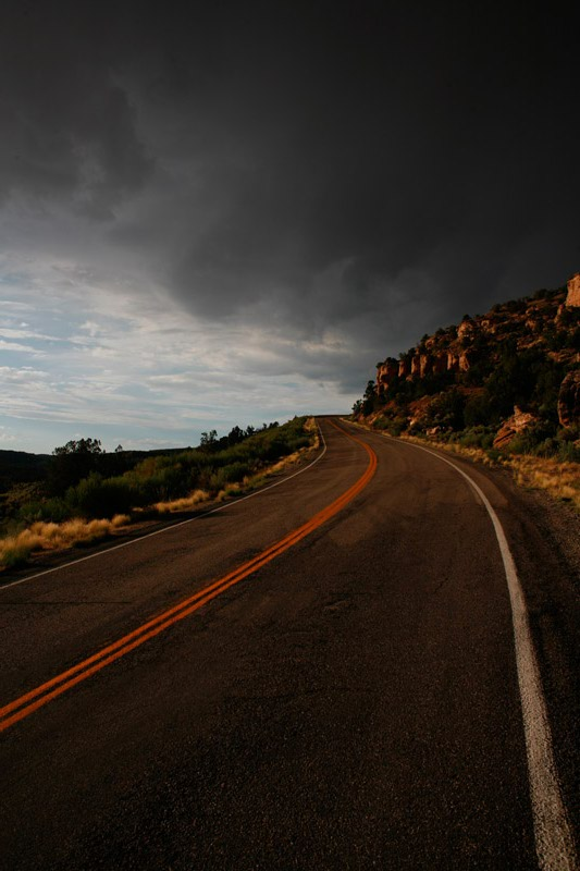 Clouds brewing along Hwy 163 in Utah