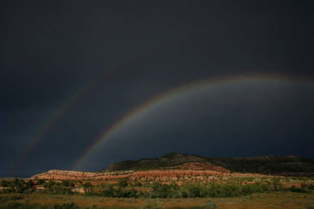 double rainbow in Utah