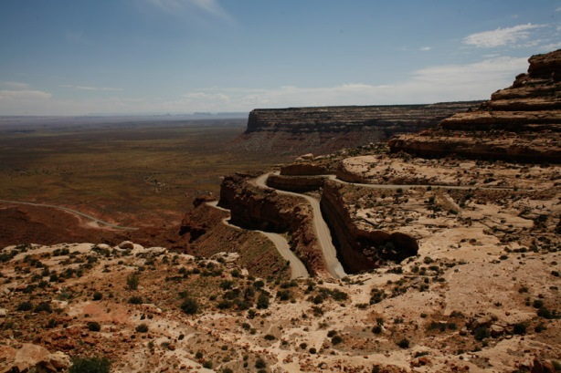 Mokee Dugway as it wind up the Mesa