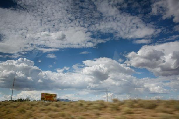Incredible sky scenes along Hwy 40 through NM