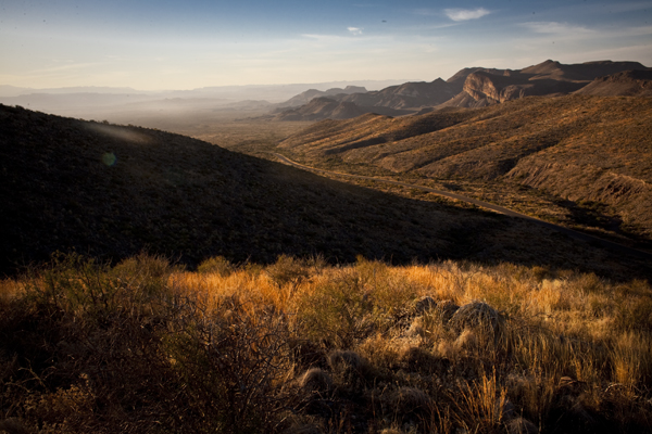sunset at sotol vista Big Bend NP