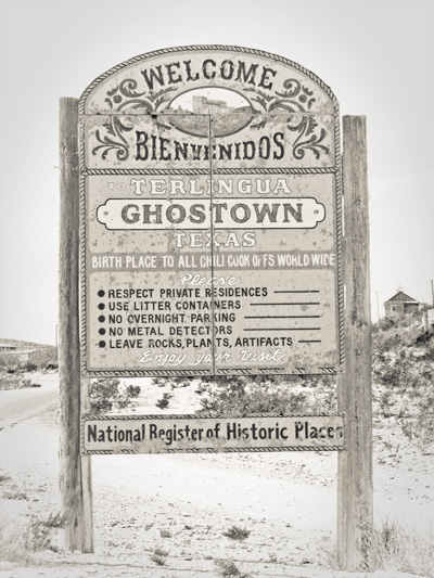 terlingua sign