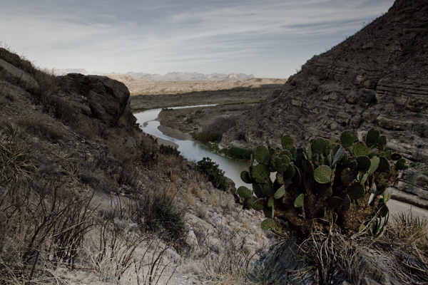View of river santa elena canyon big bend np